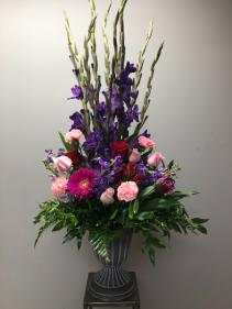Fleur-de-lis Sympathy Arrangement