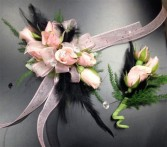 Flirtatious Flamingo Wrist Corsage