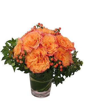 Flirty Free Spirit Rose Arrangement in Southlake, TX | SOUTHLAKE FLORIST