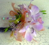 Flirty pink  orchid wrist corsage