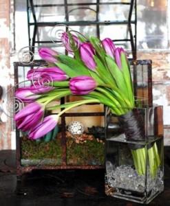 Flirty Tulips Tall Arrangement
