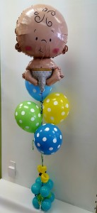 Floating Baby Balloons Artistic Balloon Bouquet