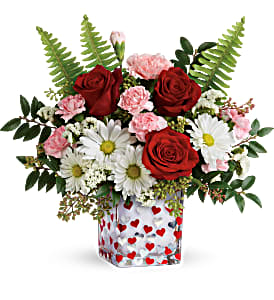 Floating Hearts Vase