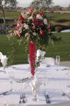 Floating Petals 2 Reception Centerpiece in Bakersfield, CA | MT. VERNON FLORIST