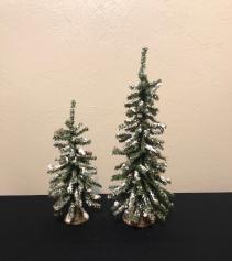 Flocked Winter Trees Holiday Decor