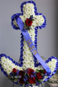 Floral Anchor Sympathy Arrangement