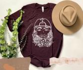 Floral Beard  TShirt