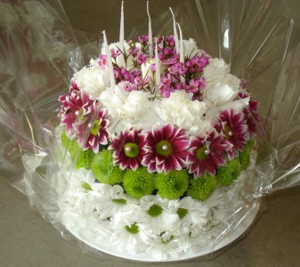 Floral Birthday Cake in Delta BC FLOWERS BEAUTIFUL