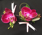 Floral Boutonniere with Phalaenopsis Orchids