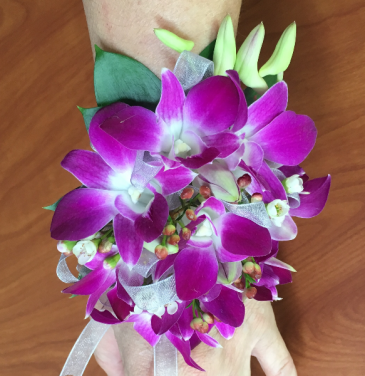 Floral Corsage With Dendrobium