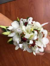 Floral Corsage with Dendrobium Orchids