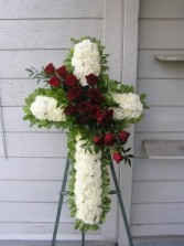 Floral Cross Easel Sympathy Flowers
