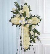 Floral Cross White