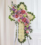 Floral Cross White with Mixed