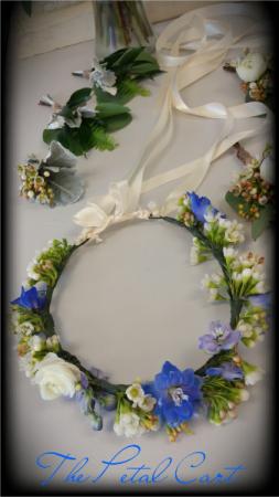 FLORAL CROWN Tie Back Floral Crown in Helena, AL | The Petal Cart