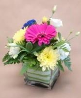 Floral cube Arrangement