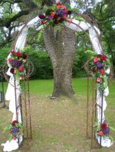 Floral & Draped Arch Arch