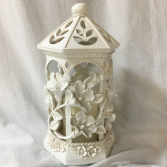 Floral Elegance Statue W/Candle Battery operated / Surround with Flowers