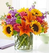Floral Embrace Bright and Cheerful Arrangement