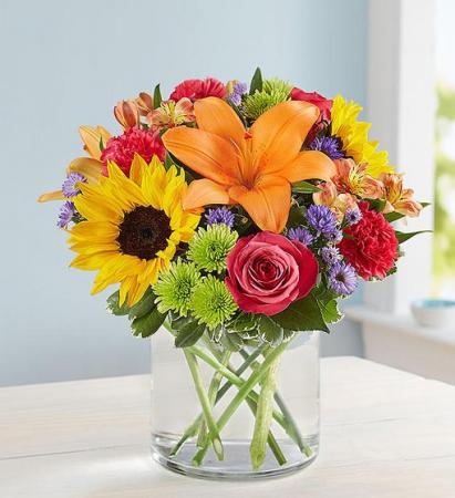 Floral Embrace Spring Vase
