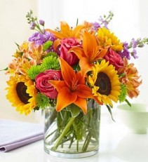 Floral Embrace Vase Arrangement