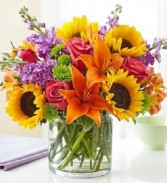 Floral Embrace Vase Arrangement