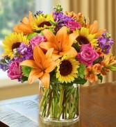 Floral Embrace  Vase arrangment