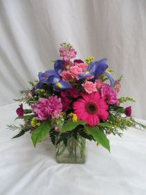 Floral Fancy Fresh Mixed Vased Arrangement