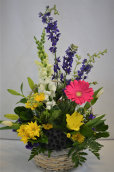 FLORAL FANTASY BASKET FRESH FLOWER ARRANGEMENT