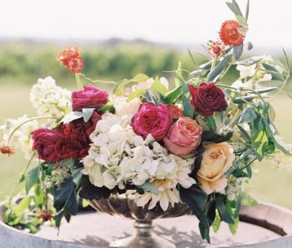 Floral  Fantasy  Compote vase arrangement