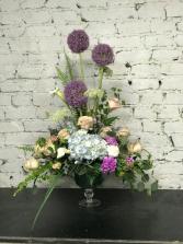 floral fantasy vase