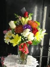 Floral Fiesta  Birthday arrangement
