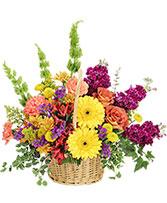 Floral Flavor Basket in Montgomery, Alabama | LEE & LAN FLORIST
