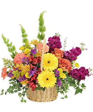 Floral Flavor Basket in Wilton, NH | WORKS OF HEART FLOWERS