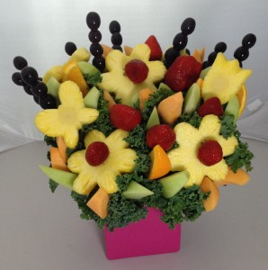 Floral Fruit Garden Edible Bouquet - Please give us 24 hr notice in Springfield, IL | FLOWERS BY MARY LOU INC