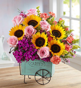 Floral Garden Cart