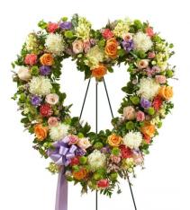 Floral Heart Standing Heart Easel