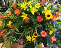 Floral Medley casket piece