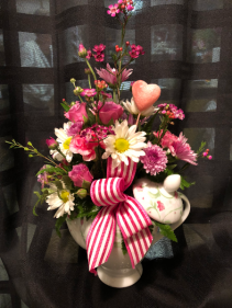 Floral Medley Teapot Valentine's Day