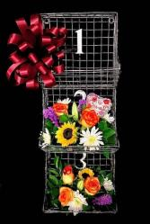 Floral & Metal Wall Bin Gift & Floral