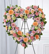 Floral Open Heart Mixed Colors