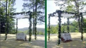 Floral Roping  Wedding Ceremony Decor in North Adams, MA | MOUNT WILLIAMS GREENHOUSES INC