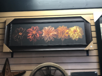"Floral Salute 12"" X 36"" Framed Canvas"