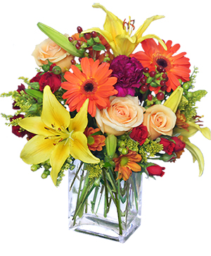 Floral Spectacular Flower Vase in Daggett, MI | BELLA FIORE GREENHOUSE & GIFTS
