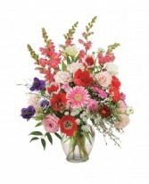 Floral Splendor BABY GIRL MIX in vase