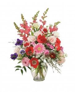 Floral Splendor BABY GIRL MIX in vase
