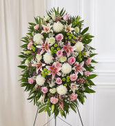 Floral Spray Easel Pinks