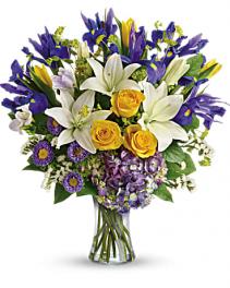 Floral Spring Iris Bouquet Bouquet