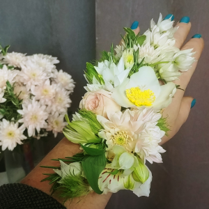 Floral Tattoo Corsage in Langford, BC | PETALS N BUDS METCHOSIN FLORIST