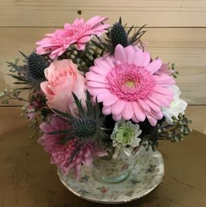 Floral tea cup  in Osoyoos, BC   POLKA DOT DOOR